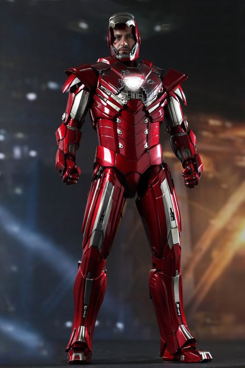 Image of Hot Toys Iron Man 3 Silver Centurion Mark XXXIII Limited Edition Collectible Figure