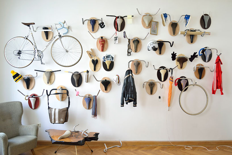 Image of Hunting Trophies Made from Recycled Bicycle Parts
