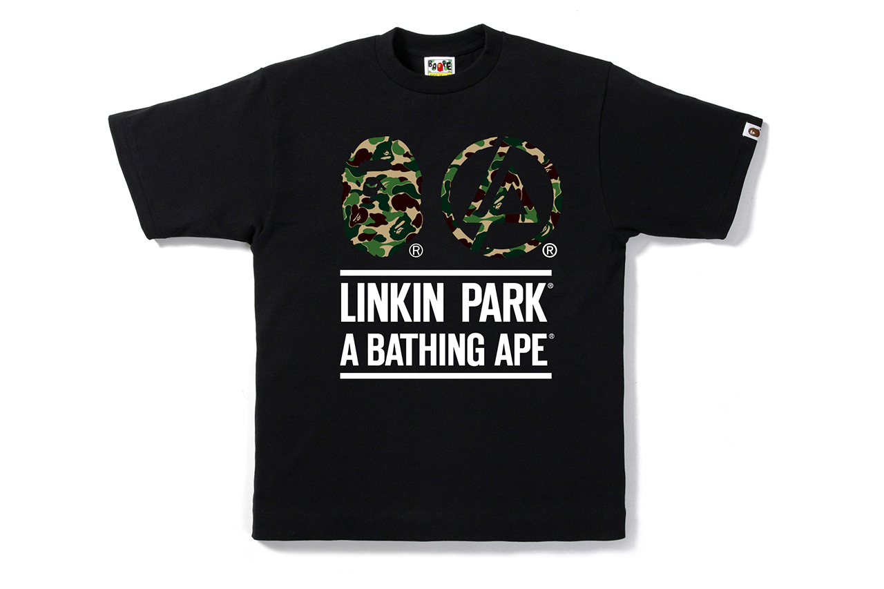 Image of Linkin Park x A Bathing Ape 2013 BAPE CAMO TEE