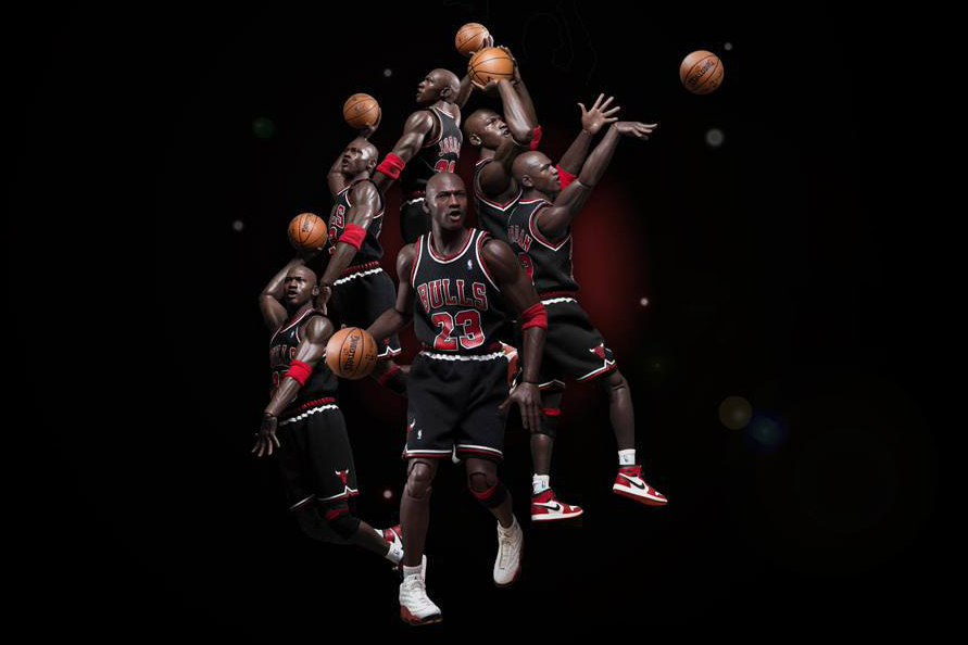"Image of Michael Jordan 1/6 Scale ""EB 8th Anniversary Edition"" Figurine Series 2 by ENTERBAY Preview"