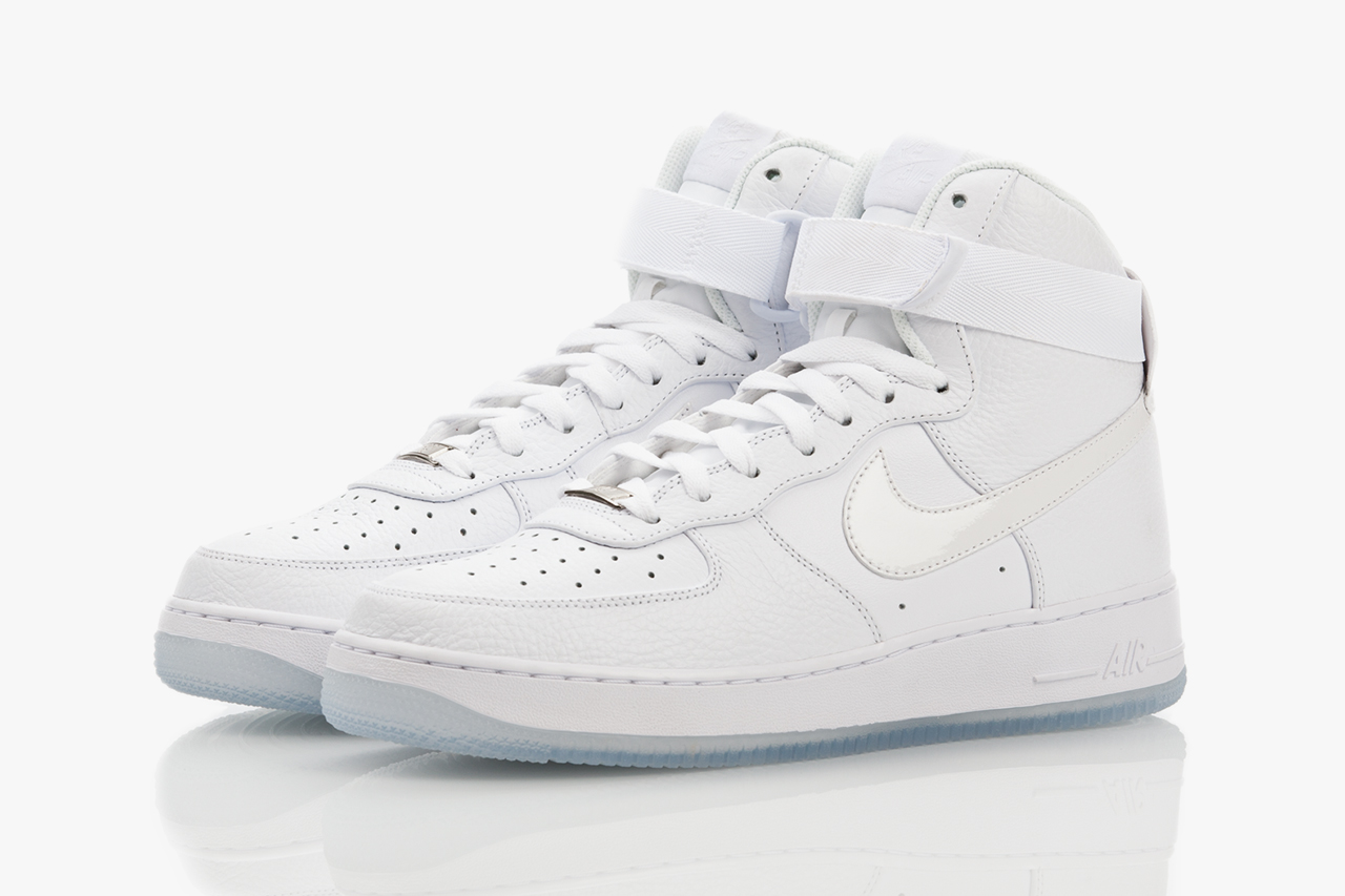 Image of Nike Air Force 1 Hi CMFT White-on-White