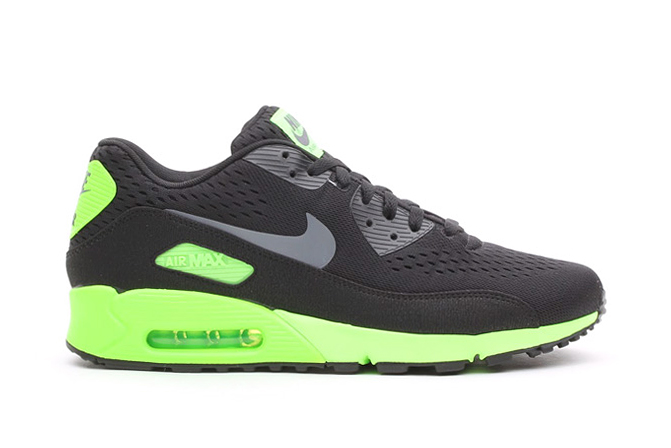 Image of Nike Air Max 90 EM Black/Dark Grey-Flash Lime