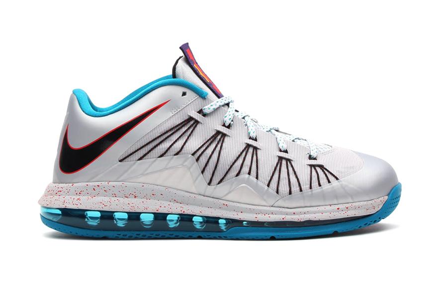 Image of Nike Air Max LeBron X Low Metallic Platinum/Black-Tropical Teal