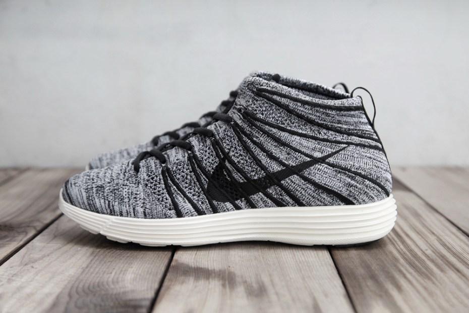 Image of Nike Lunar Flyknit Chukka Black/White-Sail