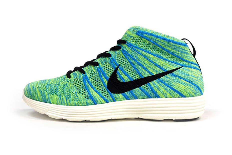 Image of Nike Lunar Flyknit Chukka Green/Blue/Pink