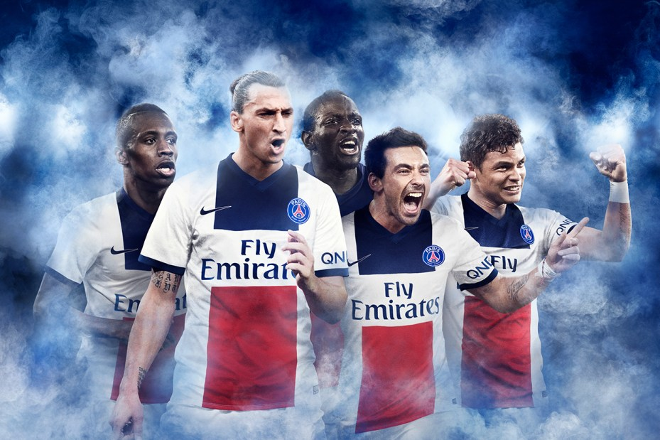 Image of Nike Paris Saint-Germain 2014 Away Kit