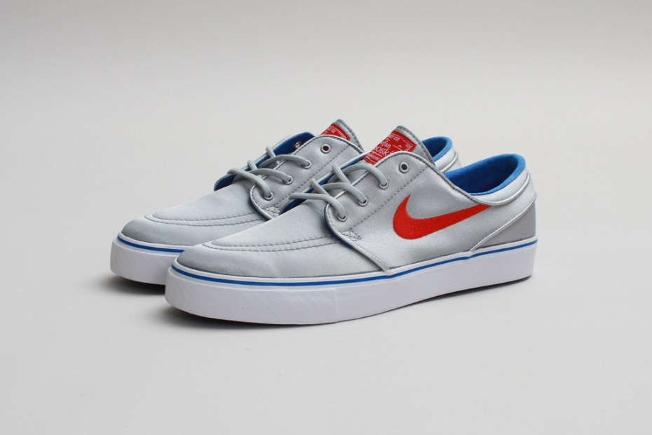Image of Nike SB Zoom Stefan Janoski PR Metallic Silver/University Red