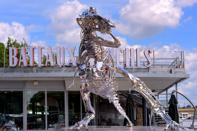 Image of Philippe Pasqua's Life-Size T-Rex is Invading Paris