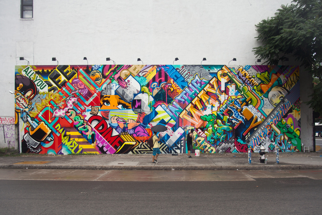 Revok and pose bowery wall mural complete hypebeast for Bowery mural nyc