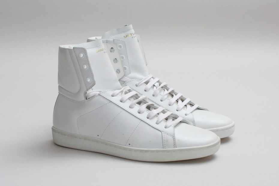 Image of Saint Laurent SL/01H High Top Sneaker Optical White