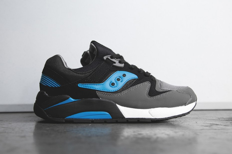 Image of Saucony Grid 9000 Black/Royal Blue