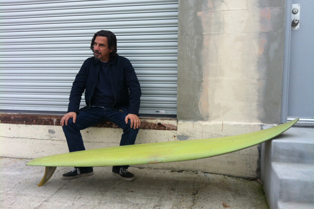 Image of Shawn Stussy on Shaping Surfboards and the Stussy Script