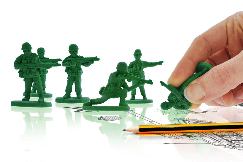 "Image of ""War On Error"" Army Men Erasers"