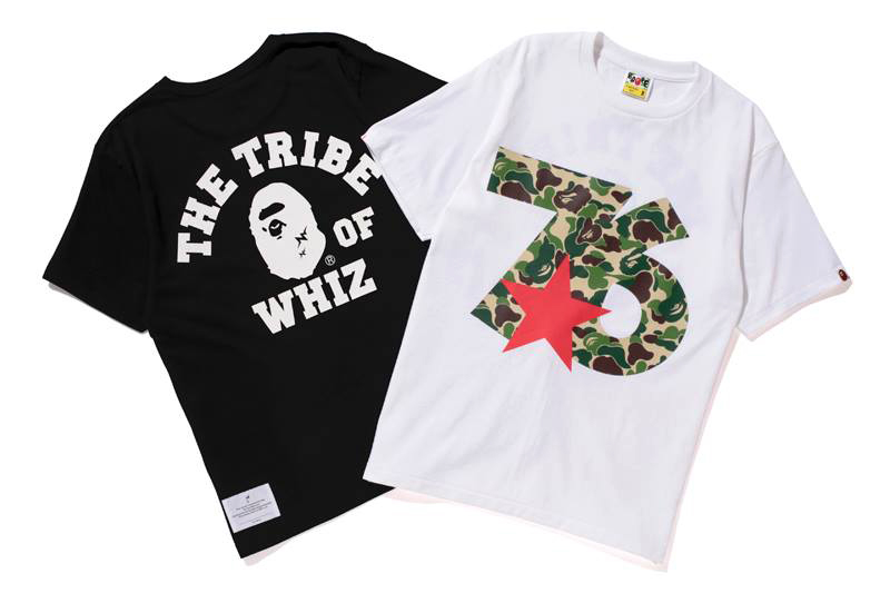 "Image of WHIZ LIMITED x A Bathing Ape 2013 ""76"" TEE"