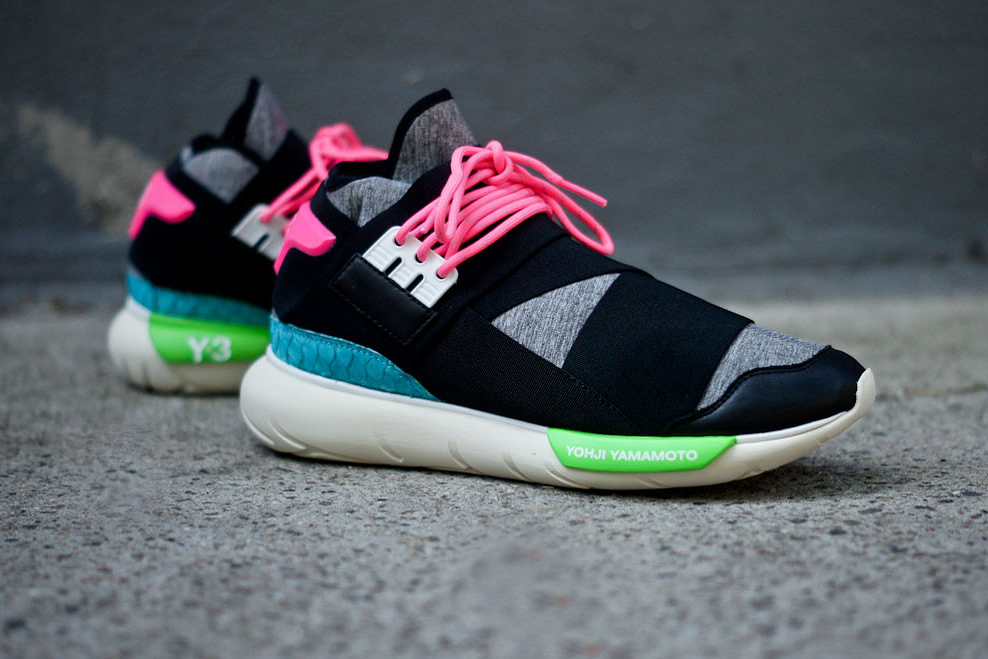 Image of Y-3 Qasa High Black/Neon