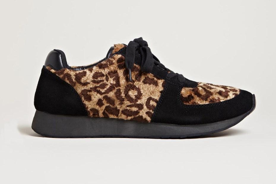 Image of Yohji Yamamoto Leopard Fur Sneakers