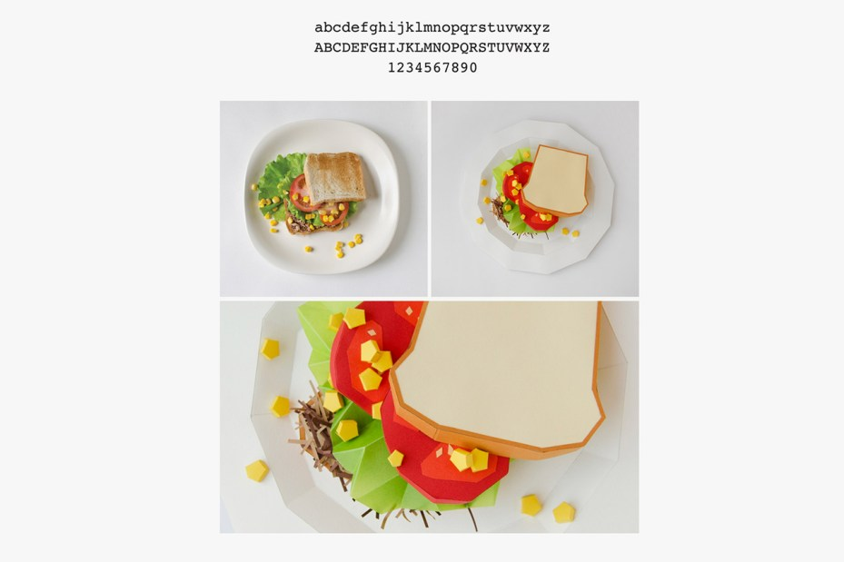 Image of Your Favorite Typefaces as Food Dishes