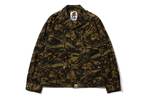 Image of A Bathing Ape 2013 Fall/Winter LIZARD CAMO MILITARY JACKET
