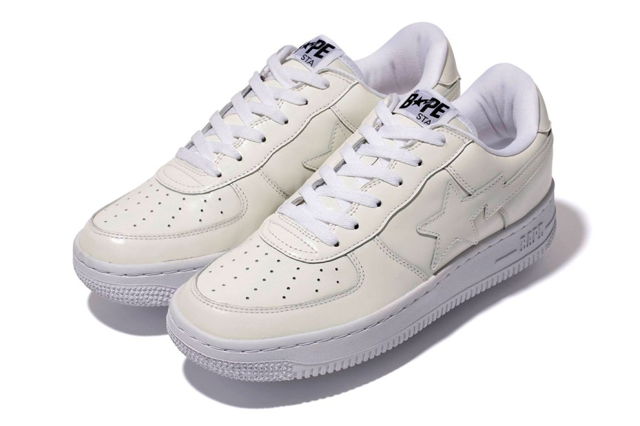 Image of A Bathing Ape WHITE LEATHER BAPE STA