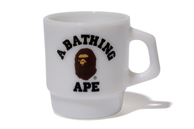 Image of A Bathing Ape x Fire-King College Mug