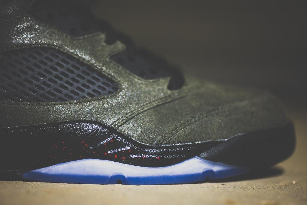 "Image of A Closer Look at the Air Jordan 5 Retro ""Fear"""