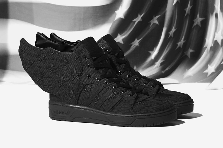 Image of A$AP Rocky x adidas Originals by Jeremy Scott JS WINGS 2.0 BLACK FLAG