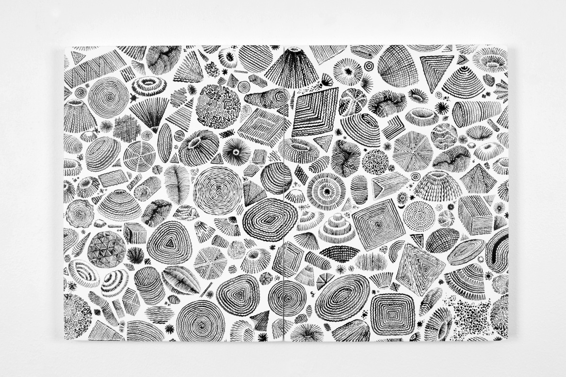 "Image of Alvaro Ilizarbe ""Surveying"" Exhibition @ Martha Otero Gallery"