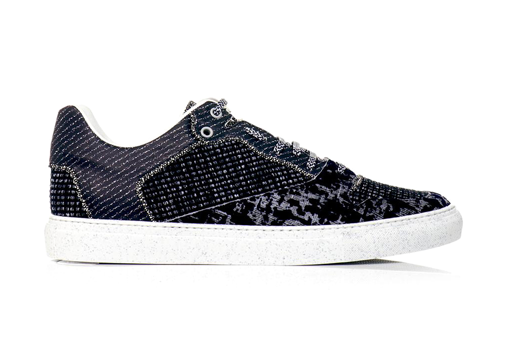 Image of Balenciaga 2013 Fall/Winter Tweed and Leather Sneakers
