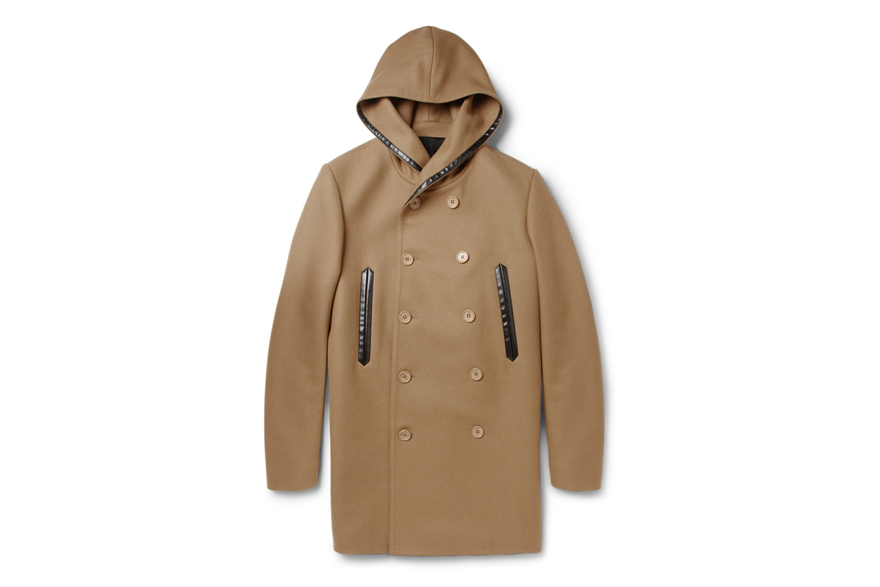 Image of Balenciaga Wool-Blended Hooded Coat