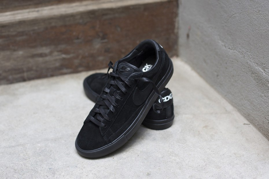 Image of BLACK COMME des GARCONS x Nike Blazer Low Premium
