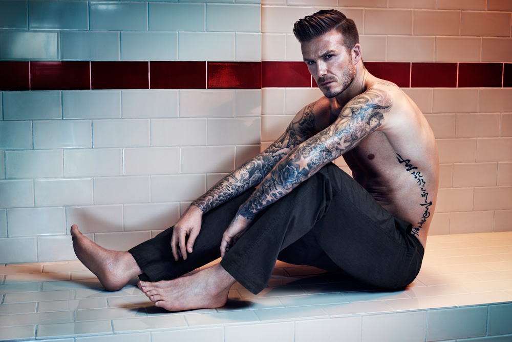 Image of David Beckham Bodywear for H&M 2013 Fall/Winter Lookbook