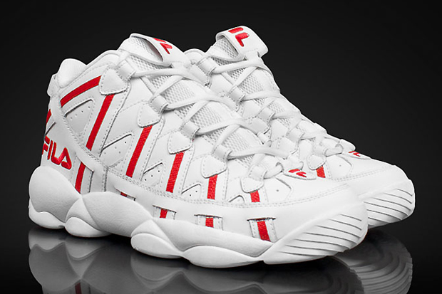 Image of FILA Stackhouse Spaghetti White/Red