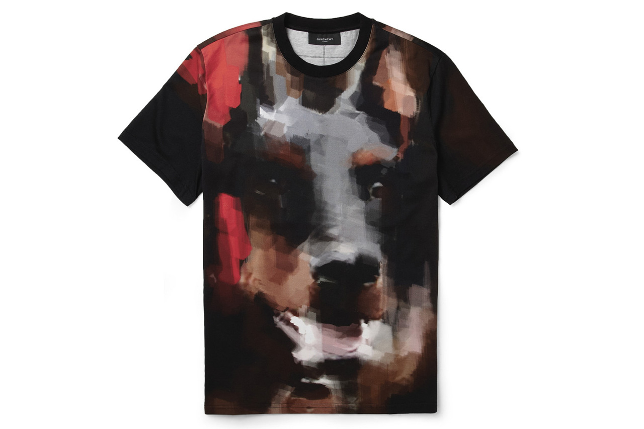 Image of Givenchy Doberman-Print Cotton-Jersey T-Shirt