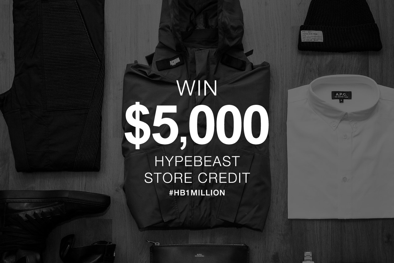 Image of Winner Announcement! HYPEBEAST Hits 1 Million Facebook Likes: Win $5,000 USD to Spend at HYPEBEAST Store