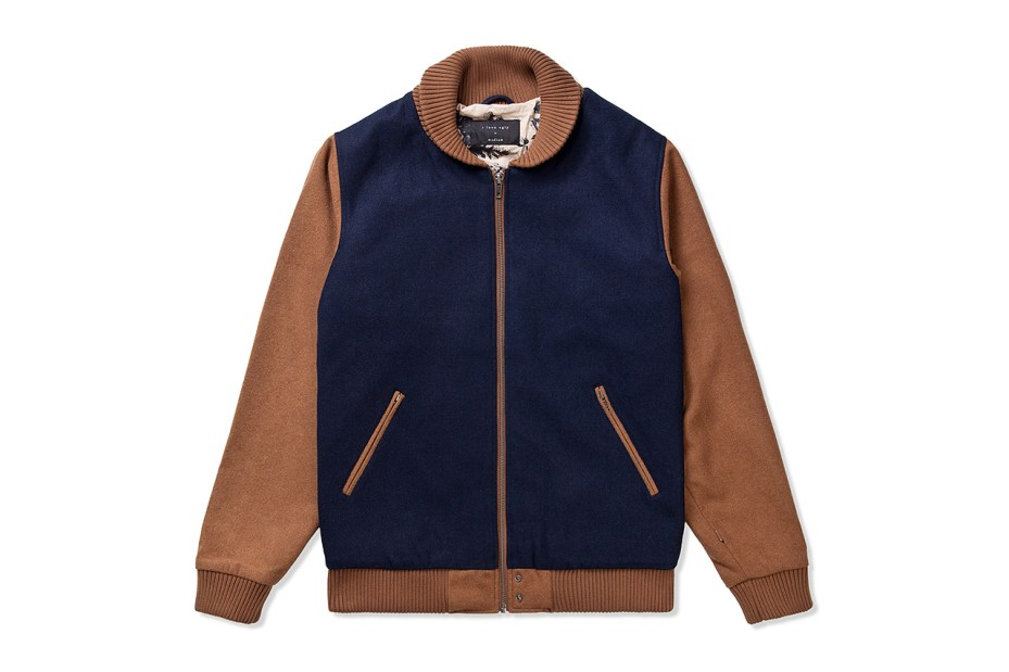 Image of I Love Ugly Navy Two Tone Bomber