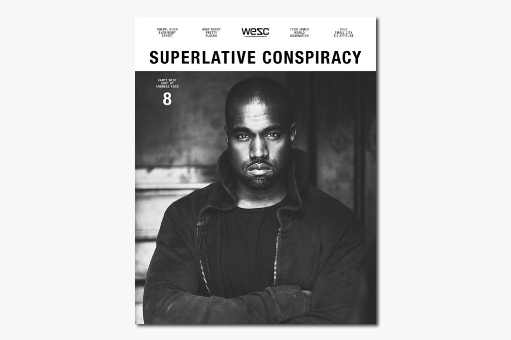 Image of Kanye West Features on the Cover of WeSC's 'Superlative Conspiracy' Issue #8