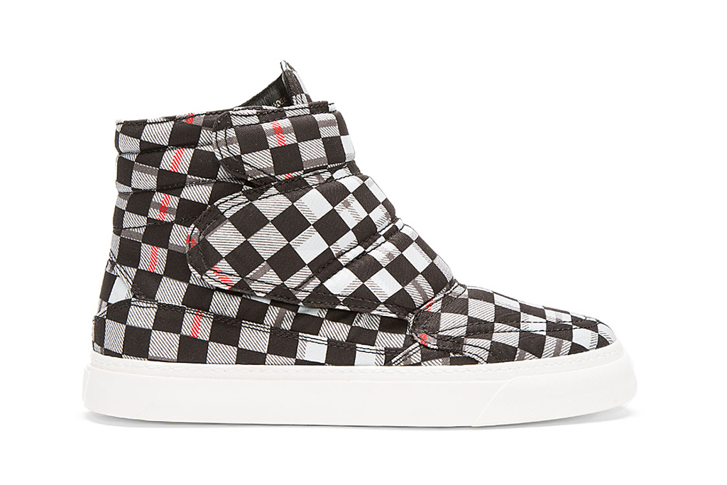 Image of McQ Alexander McQueen Black Tartan High-Top Sneakers