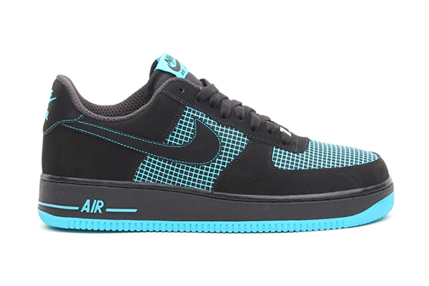 Image of Nike Air Force 1 Black/Black/Gamma Blue