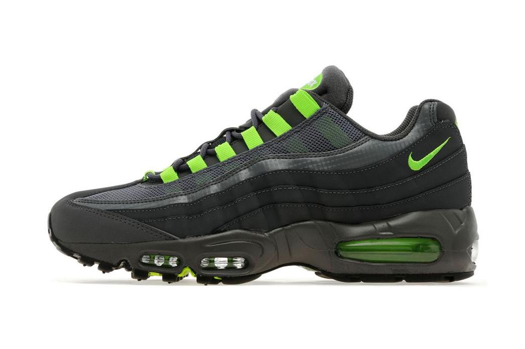 Image of Nike Air Max 95 Dark Grey/Flash Lime JD Sports Exclusive