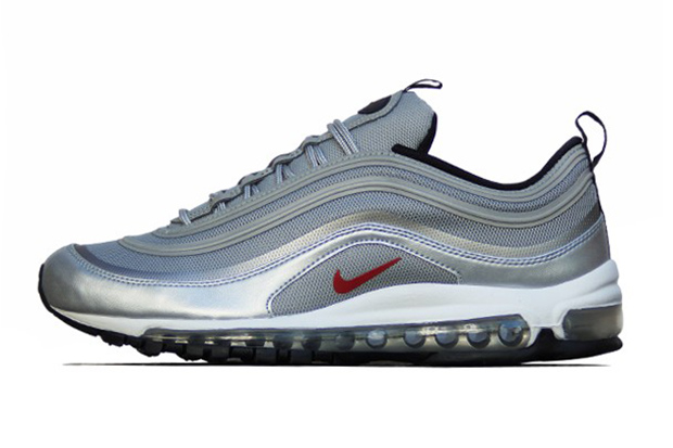 Image of Nike Air Max 97 PRM Tape QS Metallic Silver/Varsity Red