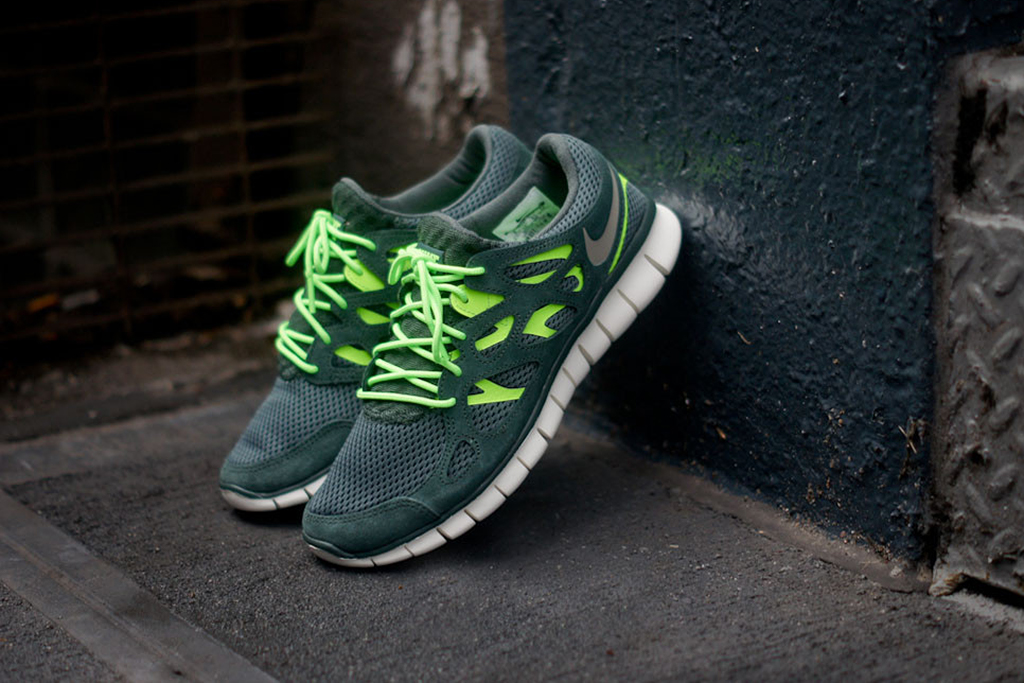 "Image of Nike Free Run+ 2 ""Vintage Green"""
