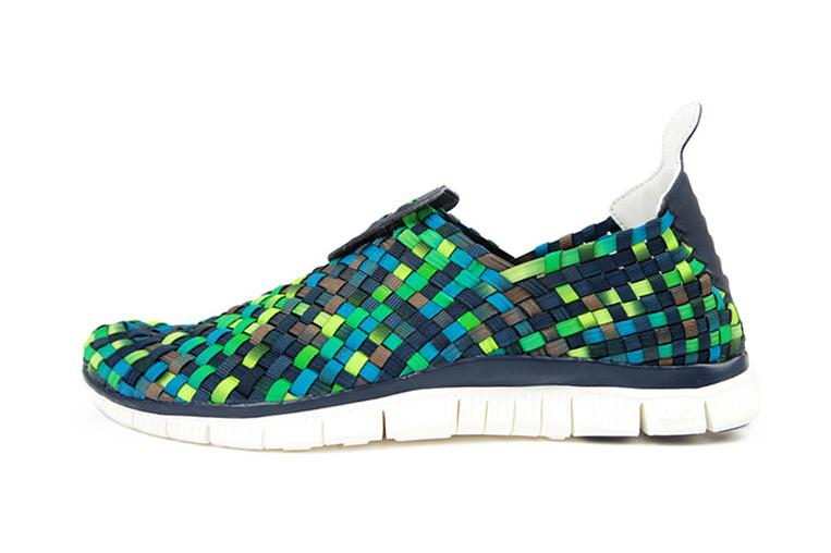 Image of Nike Free Woven 4.0 Obsidian/Squadron Blue-Smoke-Poison Green