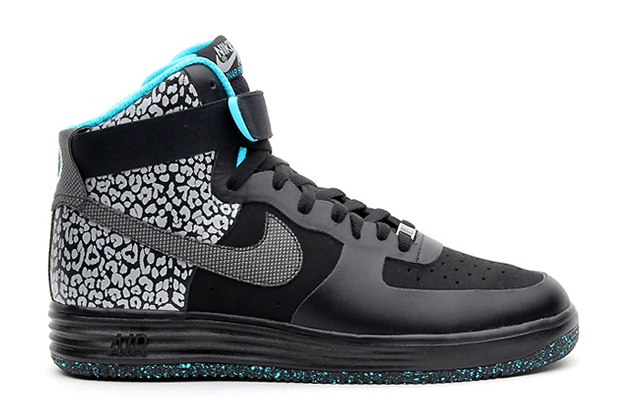 Image of Nike Lunar Force 1 High PRM Black/Gamma Blue