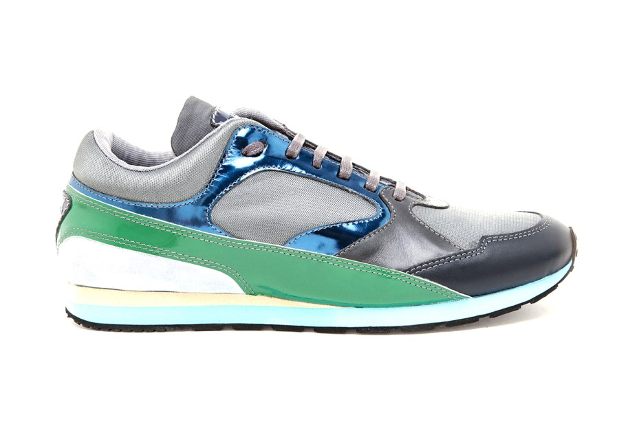 Image of Raf Simons Contrasting Leather, Suede and Mesh Sneakers