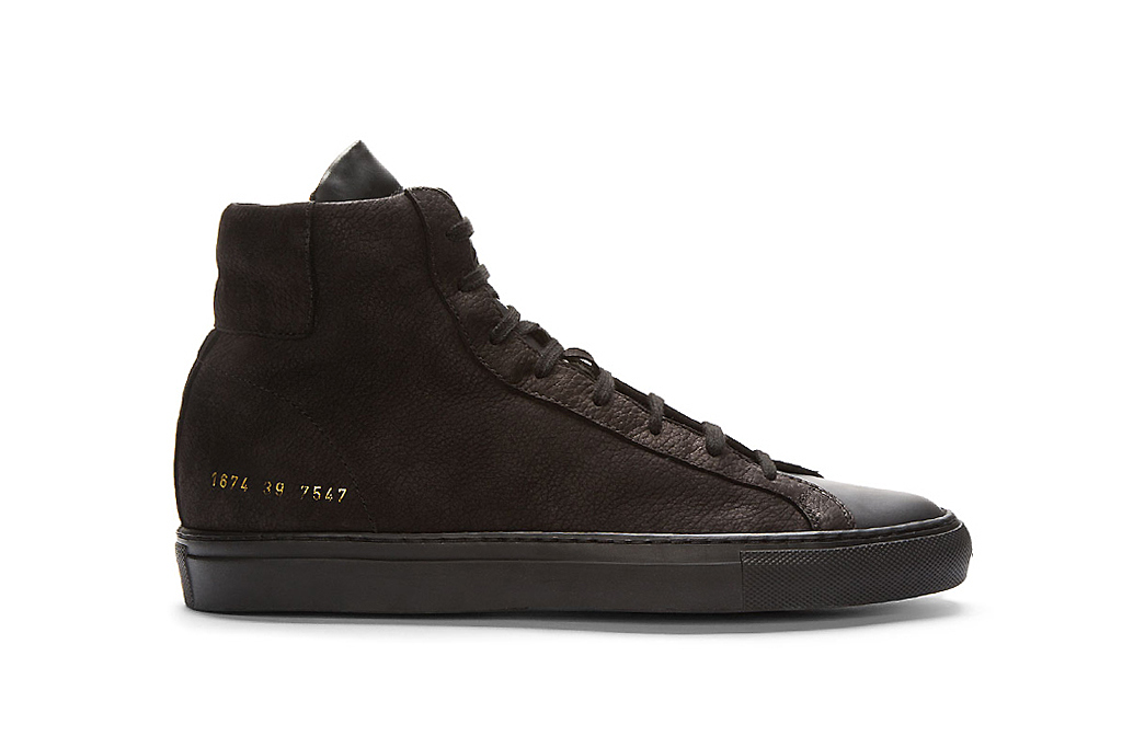 Image of Robert Geller x Common Projects High-Top Sneakers