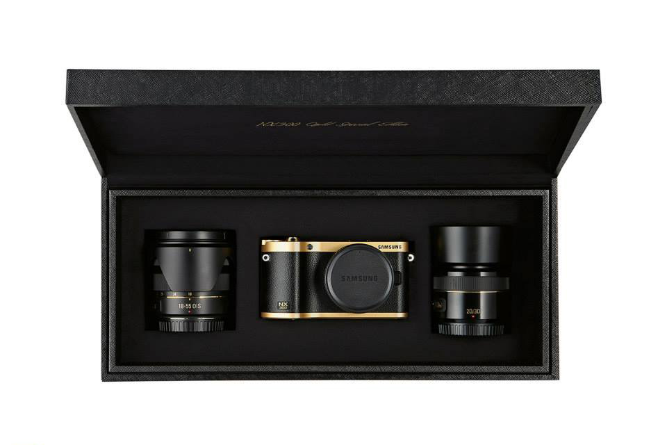 Image of Samsung Gold Plated NX300 Special Edition Camera Kit