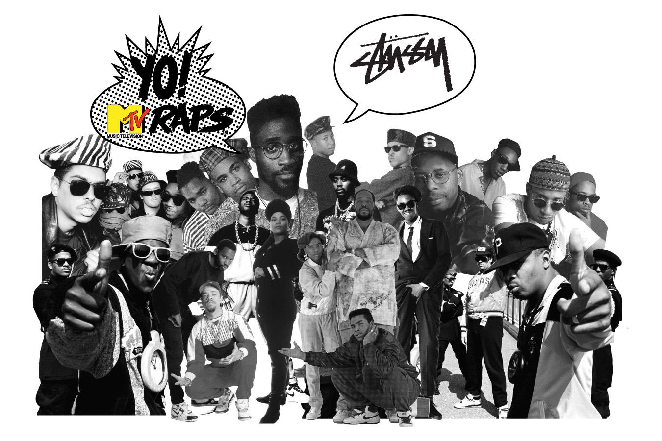 Image of Stussy x Yo! MTV Raps Collection