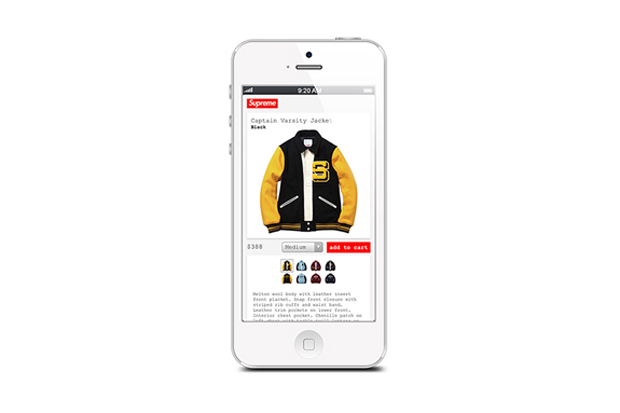 Image of Supreme iPhone App