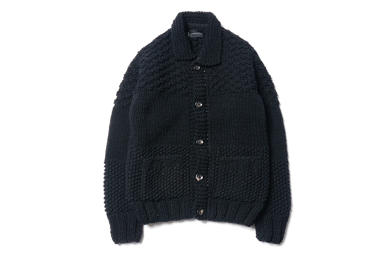 Image of wings + horns Blocked Cowichan Sweater