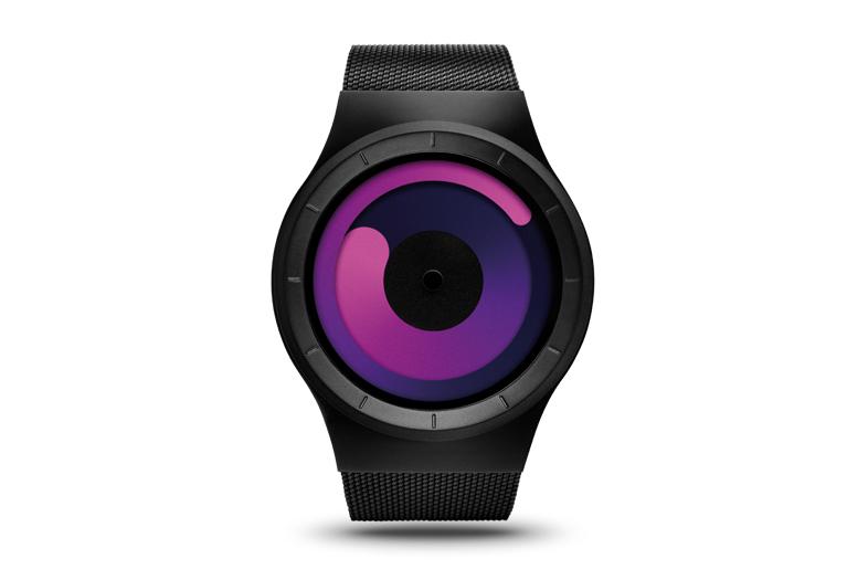 Image of ZIIIRO Mercury Black-Purple Watch